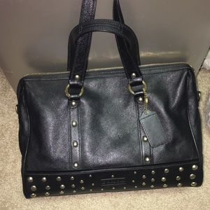 Black Studded Coach handbag